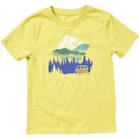 United By Blue Get Away Ride Lyhythihainen Graafinen T-paita Lapset, citron yellow